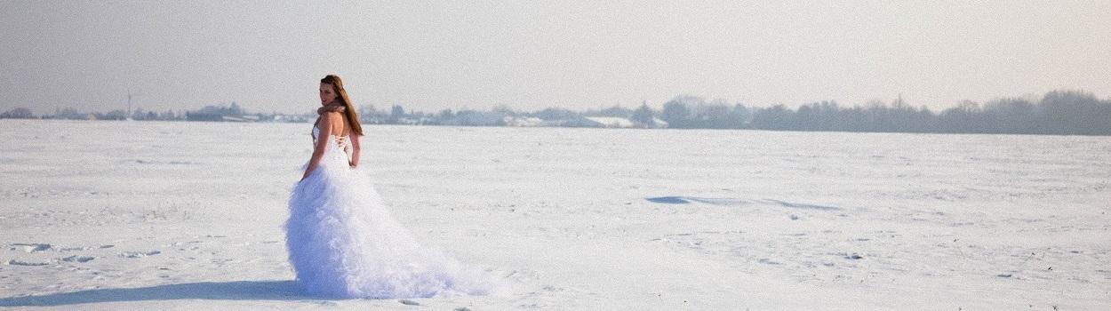 {Shooting photo} Une mariée dans la neige