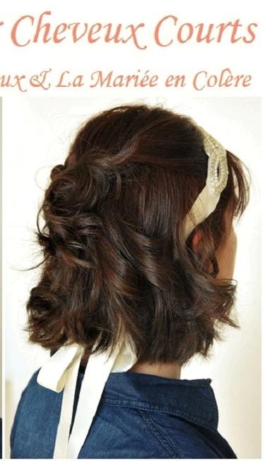 Coiffure Mariée : sur cheveux courts