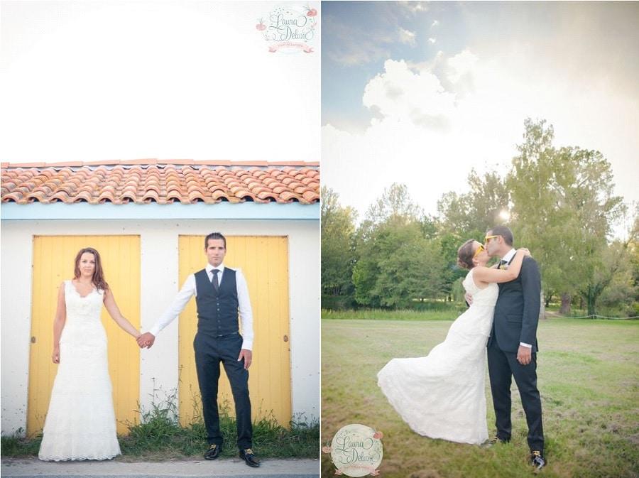 mariage gris jaune