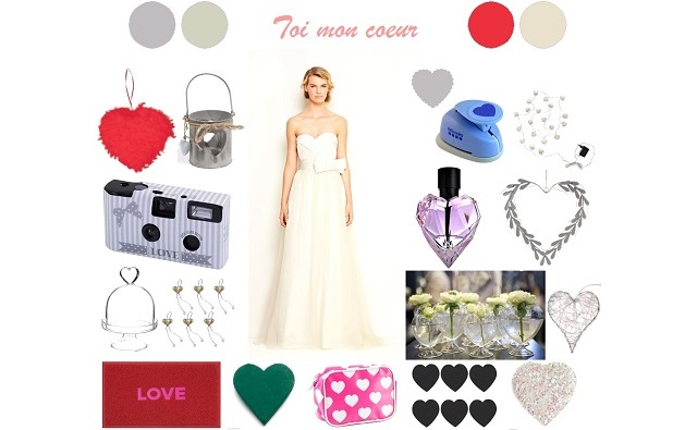 Inspiration mariage «Toi mon coeur»