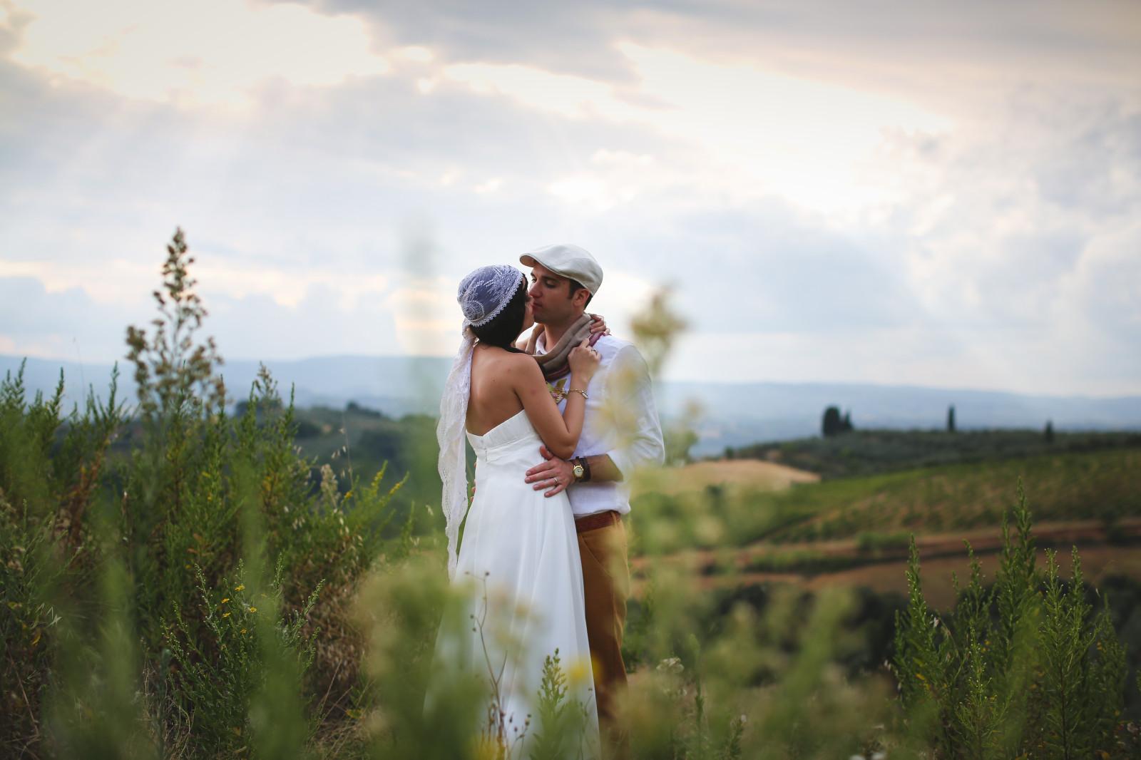 Reportage {Anne-Sophie & Hervé} : Mariage Champêtre chic en Toscane