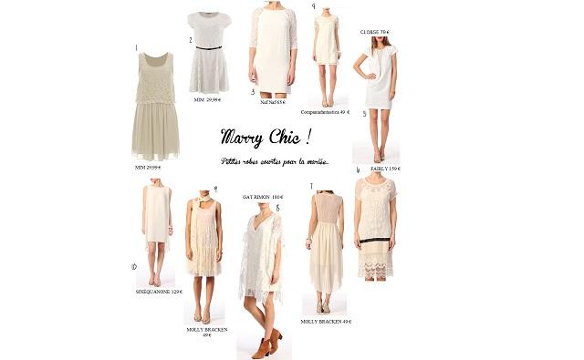 Une robe de mariée courte à moins de 200 €