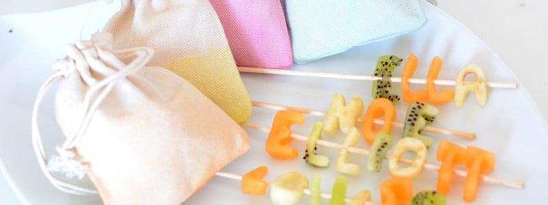 {DIY} Pochons à dragée pastels et marque-places gourmands