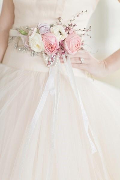mode mariage ceinture fleurs