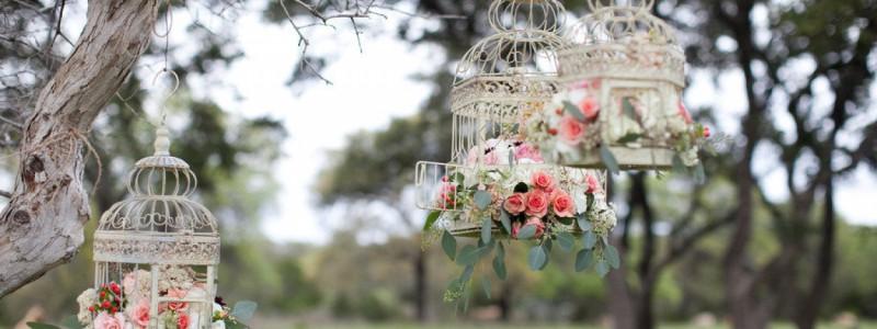 deco mariage cage oiseaux
