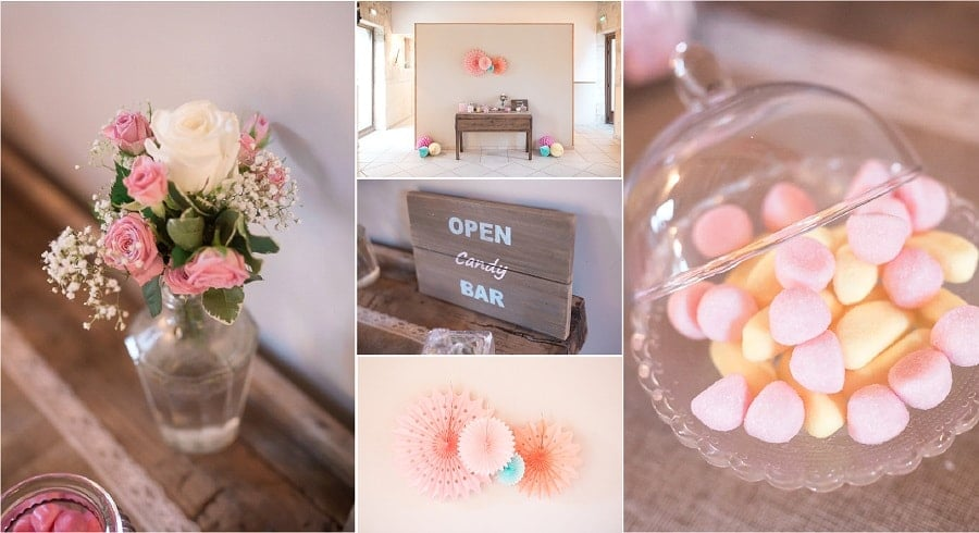 mariage vintage chic candy bar
