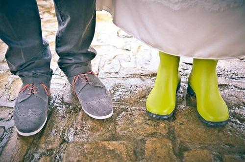 bottes chaussures mariée