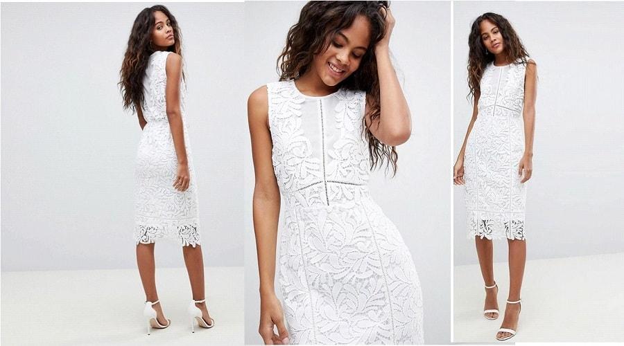robe de mariée mi-longue-
