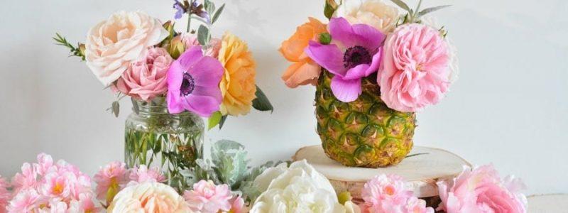 DIY thème tropical : des vases ananas