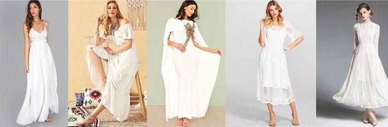 10 tenues blanches à moins de 50 €