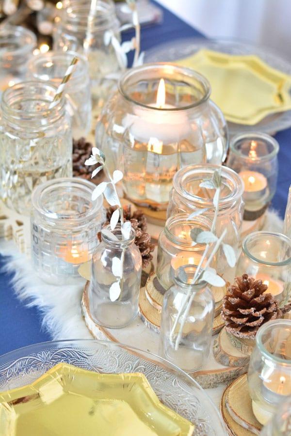 2 chemin de table noel bougies