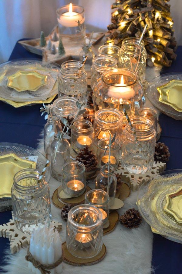 20 centre de table illuminé noel