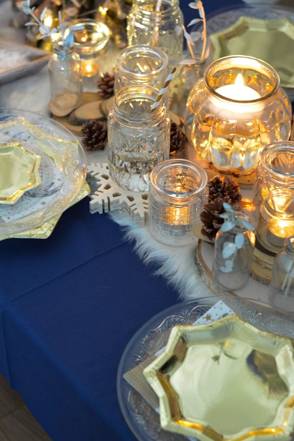 24 table bleu roi noel