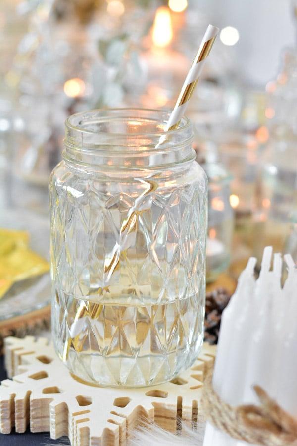 5 verre boisson noel mason jar