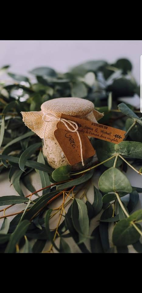 pot sel cadeau invités mariage