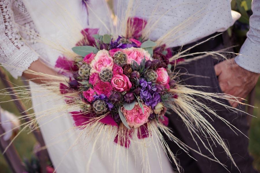bouquet mariée hippie