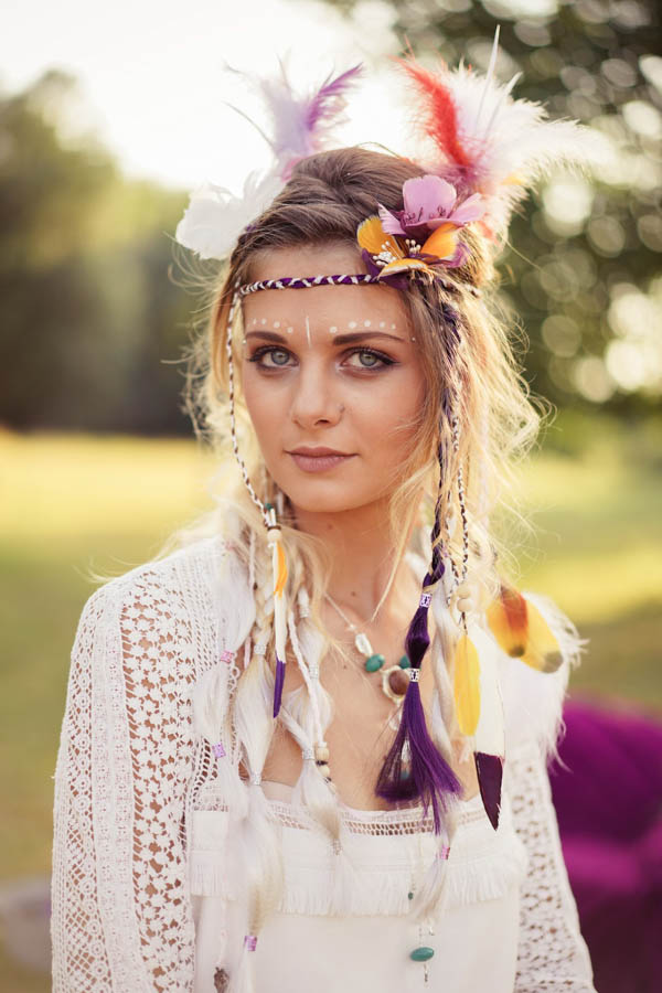 coiffure mariée hippie
