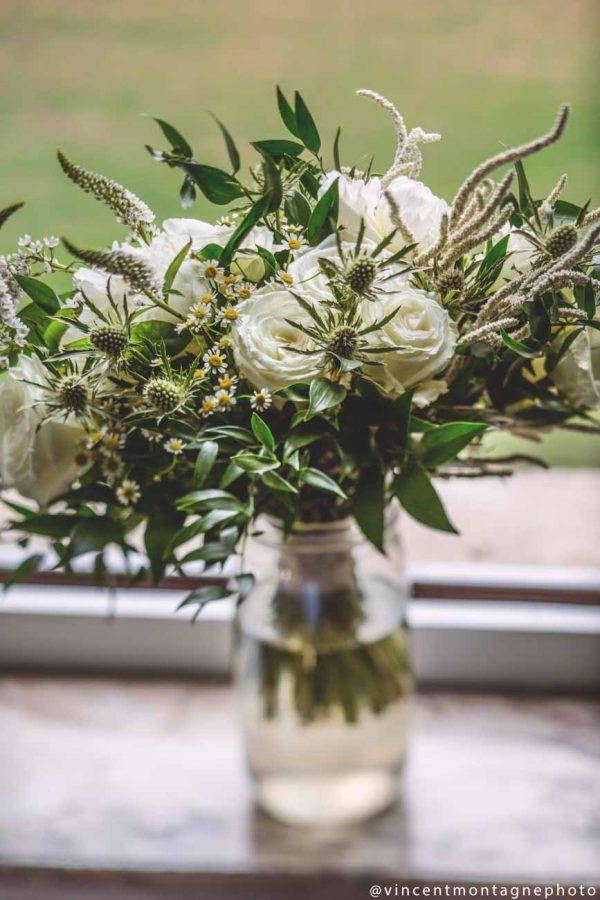 fleurs mariage simple