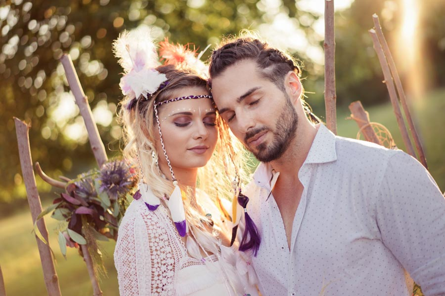 joli mariage hippie