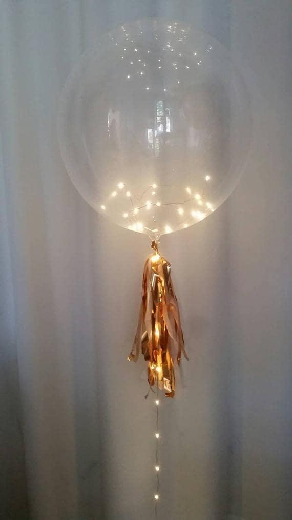 ballons baudruche guirlande lumière