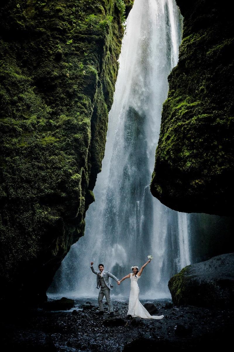 mariage cascade islande