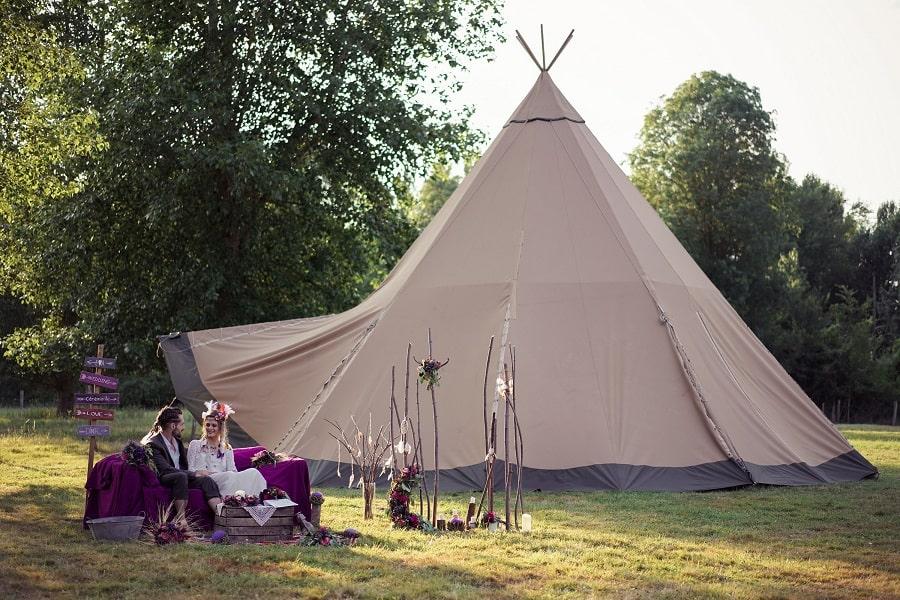 mariage hippie décoration