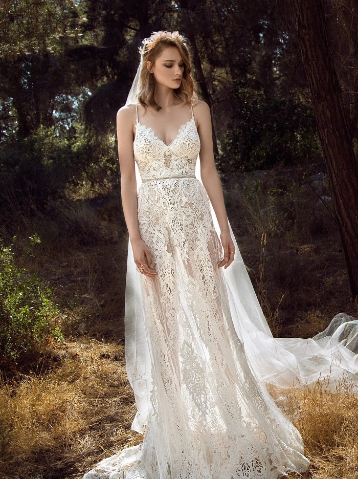 robe de mariée transparent galia lahav
