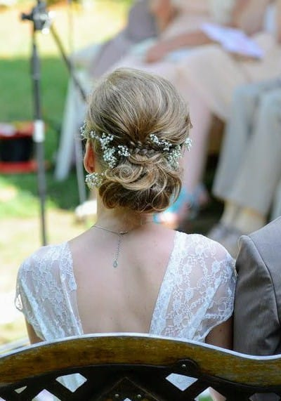 coiffure mariée chignon bas