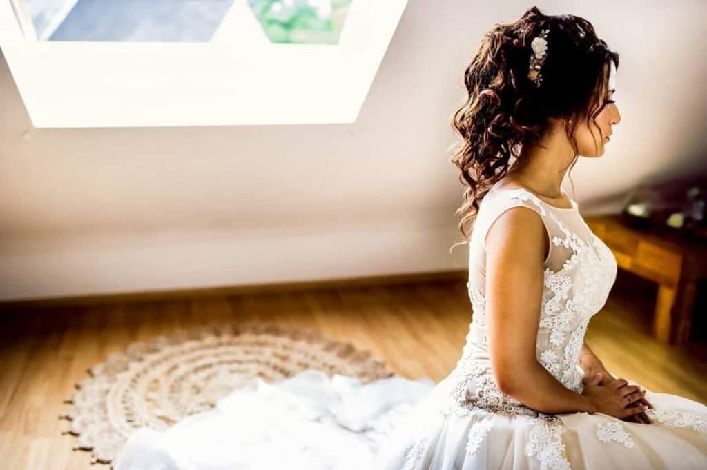 coiffure mariée romantique