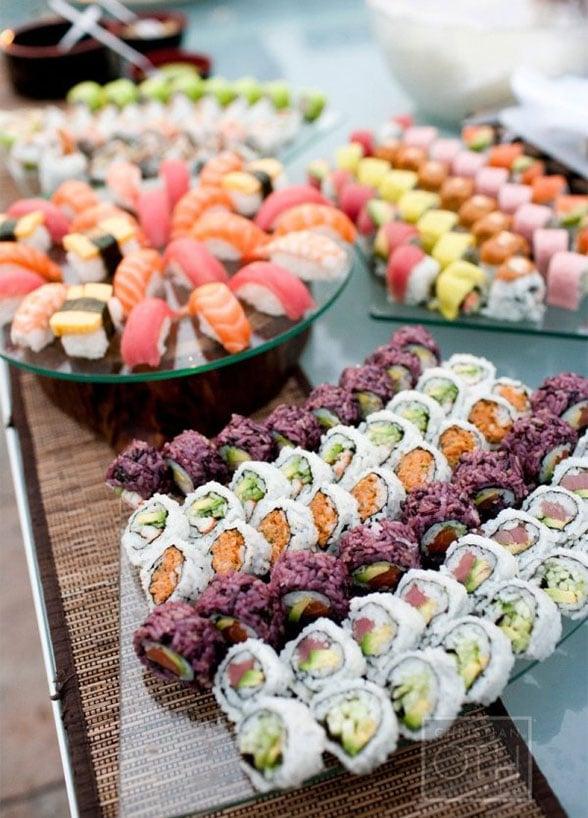 bar à sushis mariage original