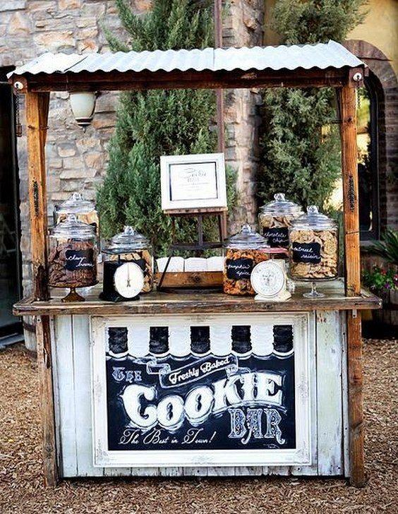 bar cookies dessert mariage