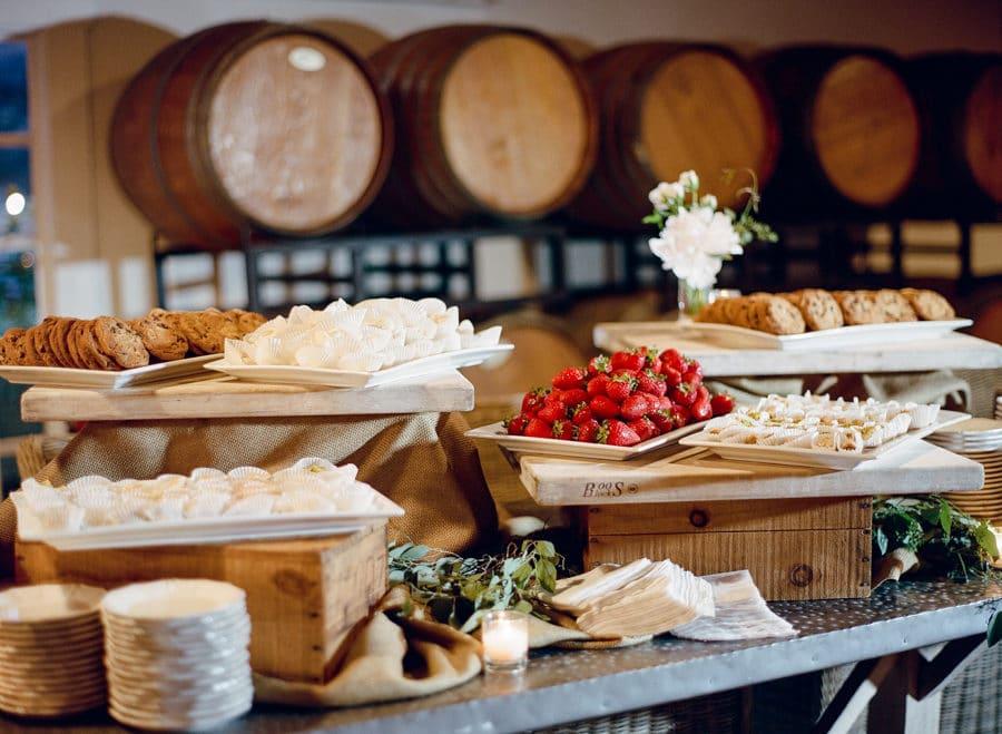 buffet mariage caisse bois