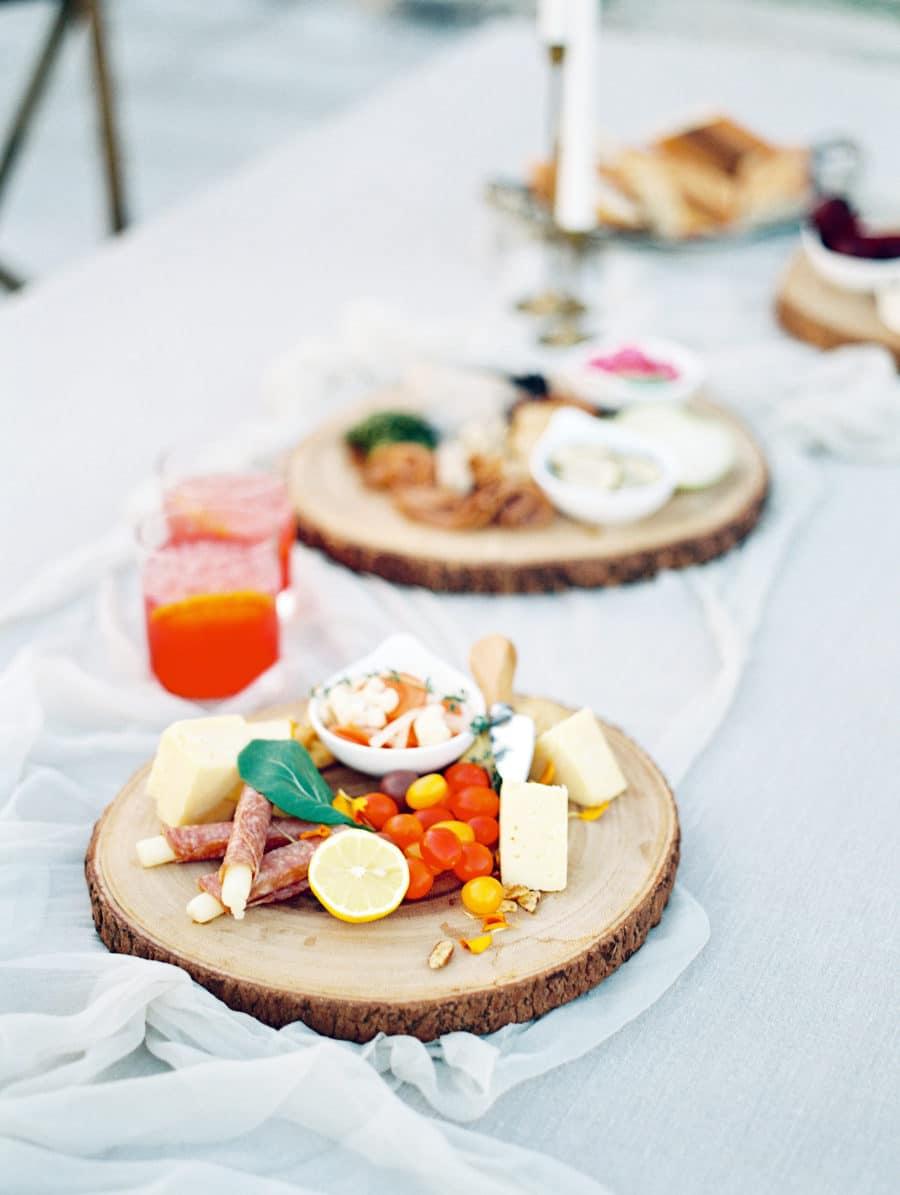 buffet mariage rondins bois