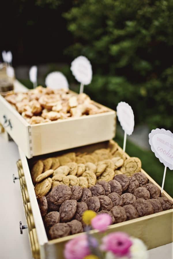 repas mariage original bar à cookies
